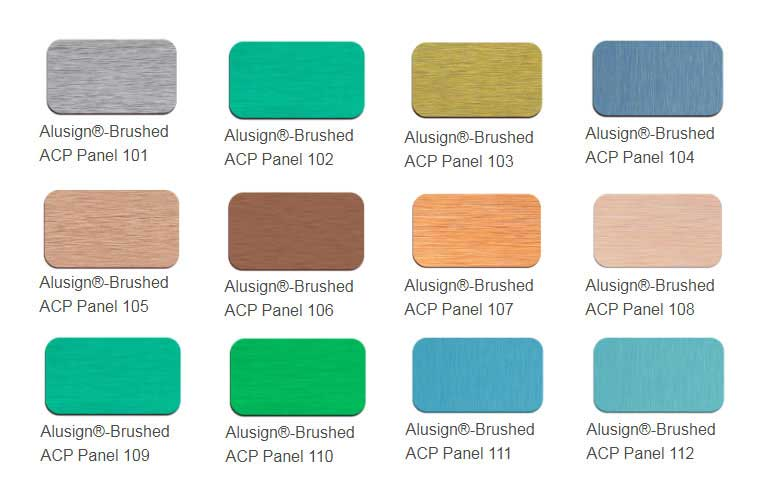 brushed acp panel color