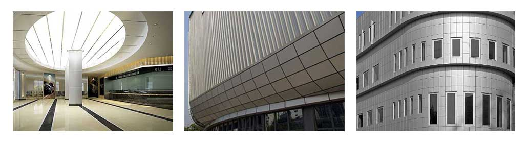 brushed aluminum composite panel project