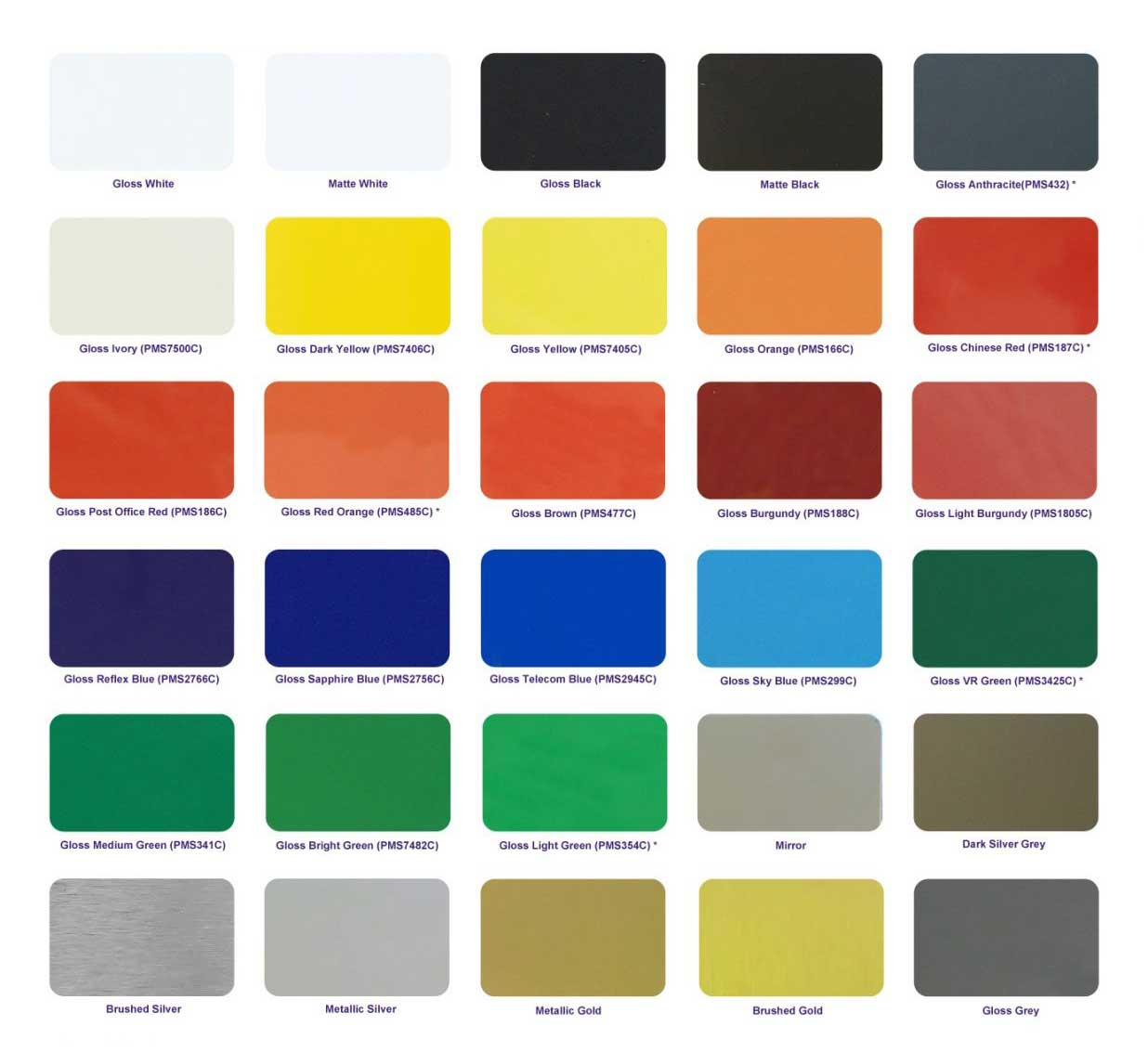 High Gloss Aluminum Composite Panel color chat