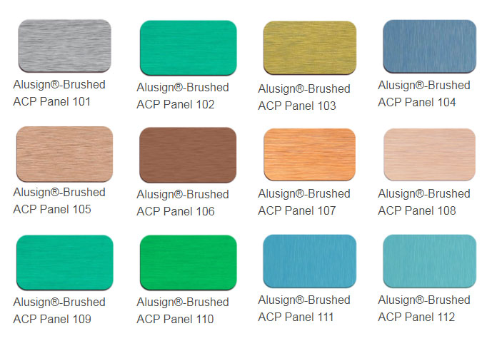 brushed acp panel color chart
