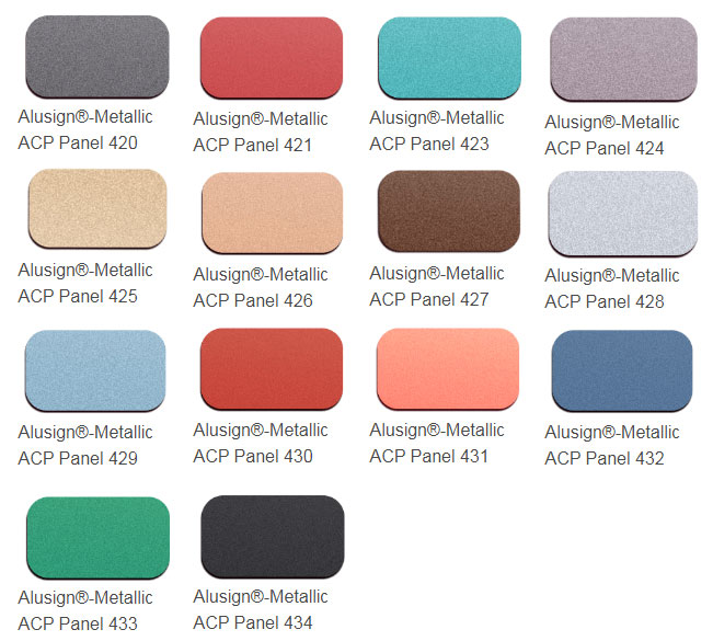 metallic acp panel color chart