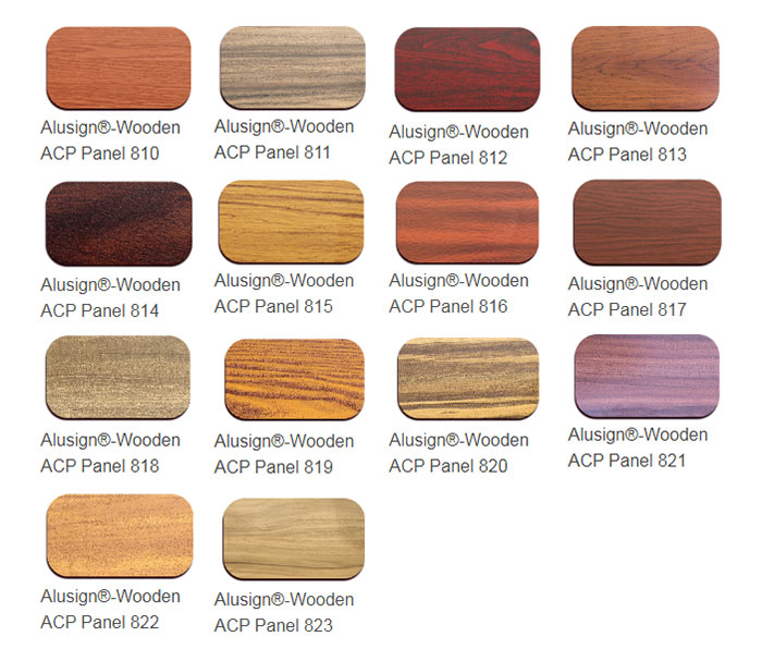 Wooden Aluminum Composite material Color Chart