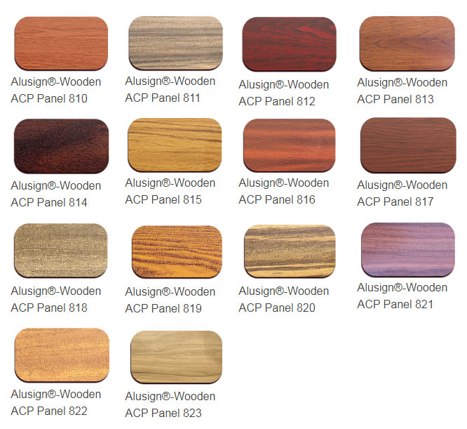 wooden acp panel color chart