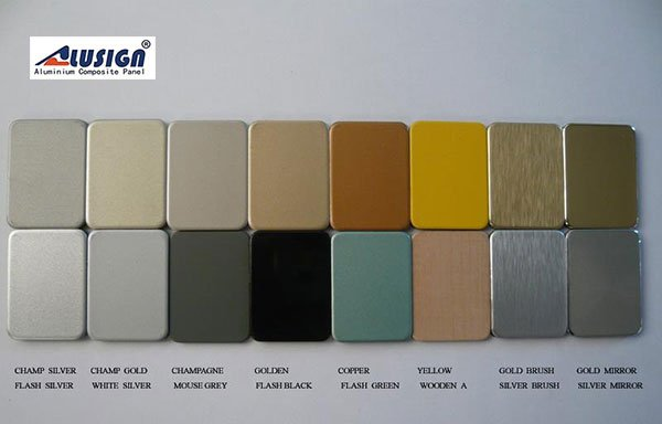 Color chart of aluminum Composite Panel